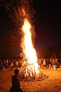 St J, bonfire