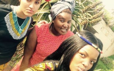 Athii in the front, Riane and Yolani behind her